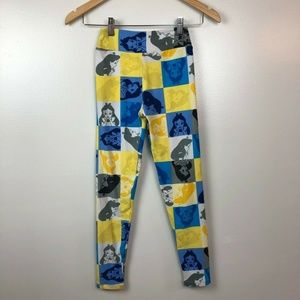 Lularoe Tween OS Leggings Disney Alice Wonderland